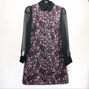 Nanette Lepore Floral Dress Long Sleeve Size 2